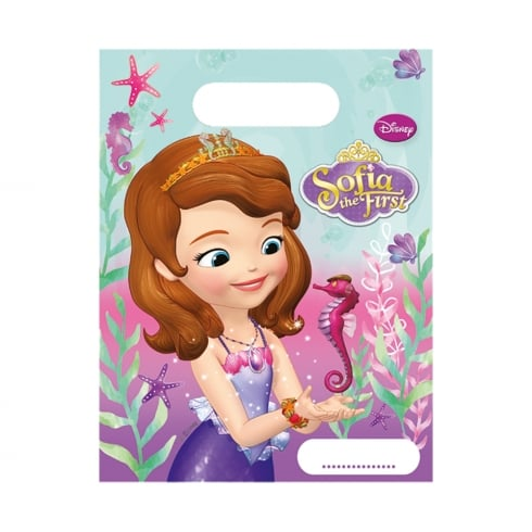decorata party disney sophia the first party bags 6 pack 47123