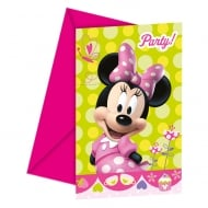 Decorata Party Invitations & Envelopes Disney Minnie Mouse 6 Pack
