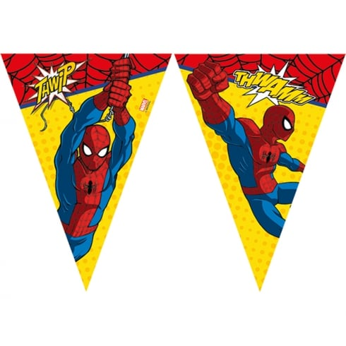 Decorata Party Marvel Flag Banner Ultimate Spider-man