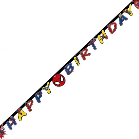 Decorata Party Marvel Paper Letter Banner Ultimate Spider-man