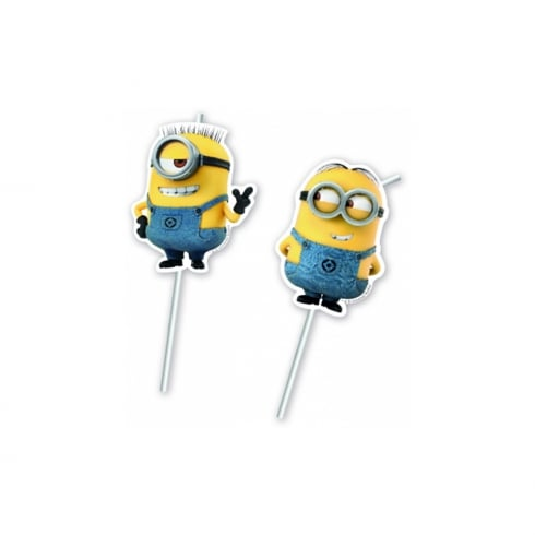 Decorata Party Minions 6pk of Drinking Straws