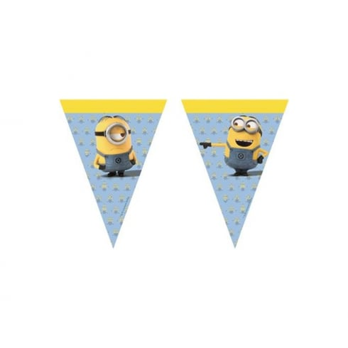 Decorata Party Minions Plastic Flag Banner 2.3m