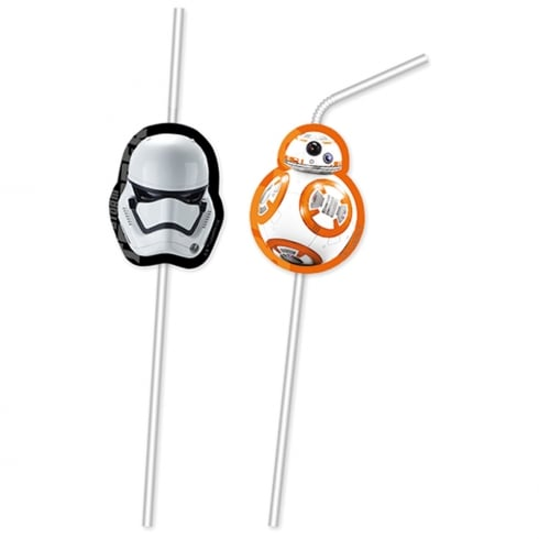 Decorata Party Star Wars The Force Awakens 6 Pack of Drinking Straws