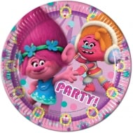 Decorata Party Trolls 23cm Paper Plates 8 Pack