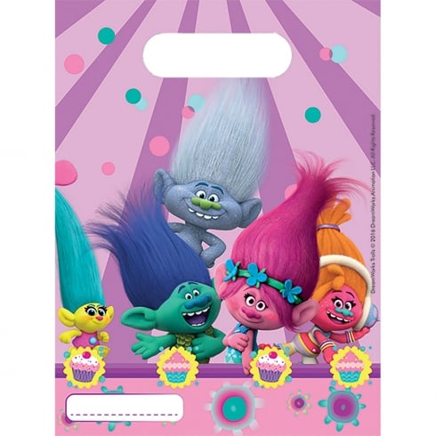 Decorata Party Trolls Party Bags 6 Pack