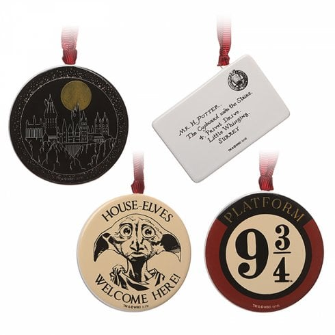 Half Moon Bay Decoration Set Of 4 Harry Potter
