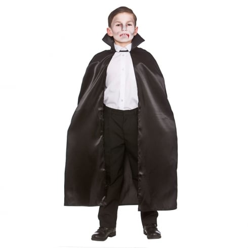 Wicked Costumes Deluxe Childrens Satin Cape (95cm) Black