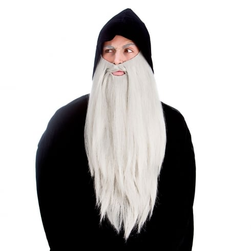 Wicked Costumes Deluxe Long Beard - Grey