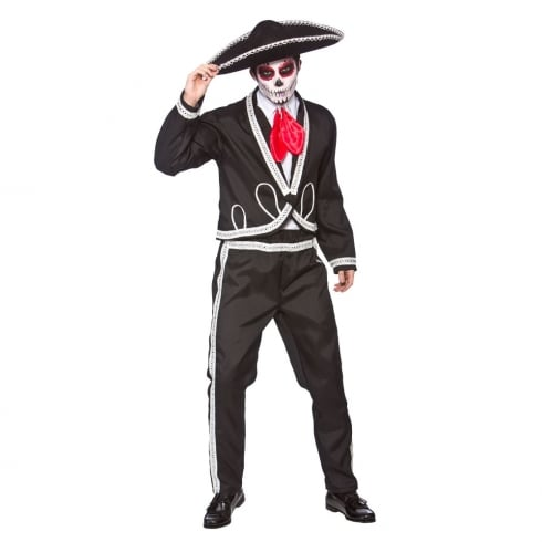 Wicked Costumes Deluxe Mariachi-Day Of The Dead Large
