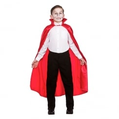Deluxe Red Satin Cape with Collar - Childrens