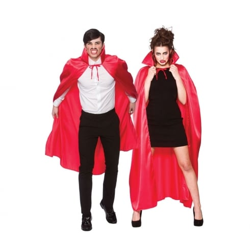 Wicked Costumes Deluxe Satin Cape with Collar Red