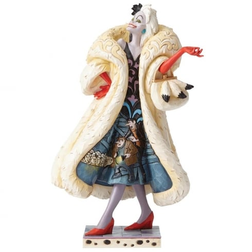 Disney Traditions Devilish Dognapper Cruella De Vil Figurine