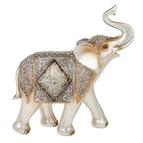 Shudehill Giftware Diamond Crackle Elephant Giant
