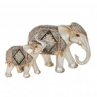 Diamond Crackle Elephant Mum & Baby