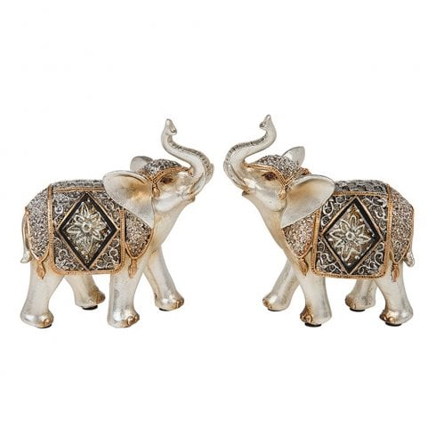 Shudehill Giftware Diamond Crackle Elephant Small