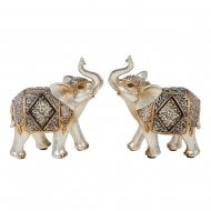 Diamond Crackle Elephant Small