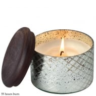 Diamond Etched Glass Small with Red Currant Fragrance Candle