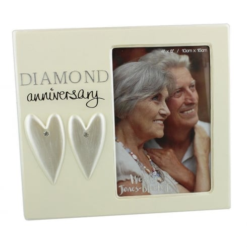 Wendy Jones-Blackett Diamond Wedding Anniversary 4 x 6 Photo Frame