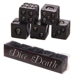 Dice With Death Black Skull Dice (Pack of 5)