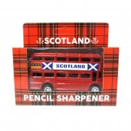 Die Cast Red Bus Scotland Pencil Sharpener