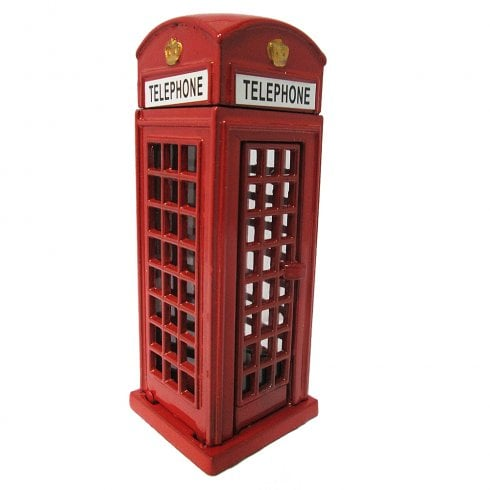 EastWest Die Cast Red Telephone Box Pencil Sharpener