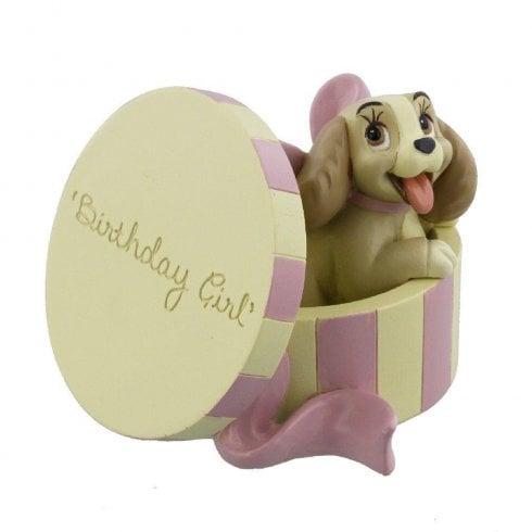 Widdop & Co. Disney Lady In Hat Box Birthday Girl Resin Figurine DI183