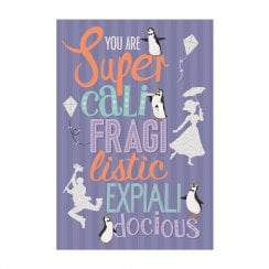 Disney Mary Poppins You Are Super Cali Fragi Listic Card 25520163
