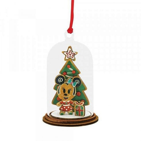 Enesco Disney Minnie Mouse With Christmas Tree Hanging Ornament A30543