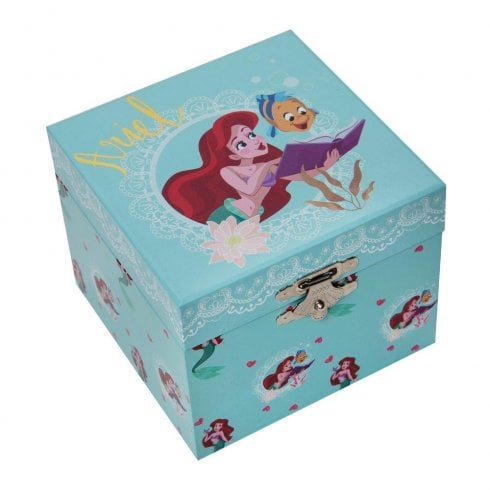 Widdop & Co. Disney Pastel Princess Ariel Musical Jewellery Keepsake Box