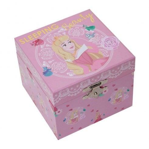 Widdop & Co. Disney Pastel Princess Aurora Musical Jewellery Box