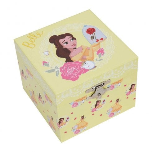 Widdop & Co. Disney Pastel Princess Belle Musical Jewellery Keepsake Box