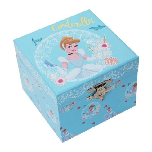 Widdop & Co. Disney Pastel Princess Cinderella Musical Jewellery Keepsake Box