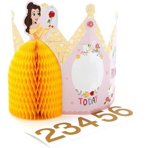 Hallmark Disney Princess Belle Ages 2–6 Wearable Crown Birthday Card 25525297