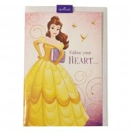 "Disney Princess Belle ""Follow Your Heart..."" 12 x 17cm Greetings Card 25470216"