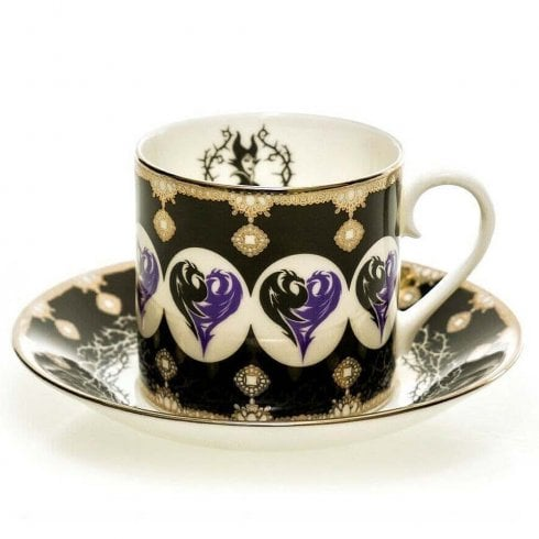 English Ladies Co. Disney Princess Cup & Saucer - Maleficent