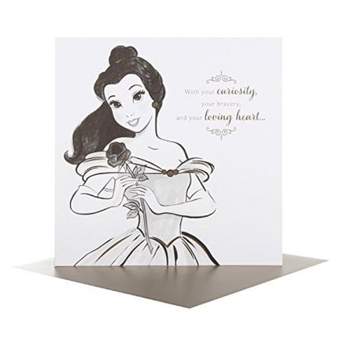 Hallmark Disney Princess Portraits Belle Birthday Card 25478189