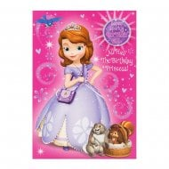 Disney Princess Sofia Sparkly Birthday Girl Card 25455503