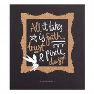 "Disney Tinkerbell ""Faith, Trust & Pixie Dust"" 16 x 18cm Blank Card 25454922"