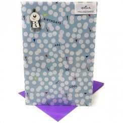 Disneys Frozen Birthday Card With Olaf Pin Badge 25532874