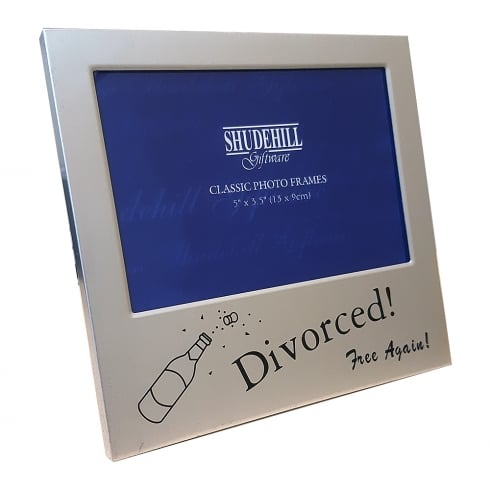 Shudehill Giftware Divorced Free Again 5 X 35 Photo Frame 73485