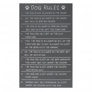 Dog Rules Plaque