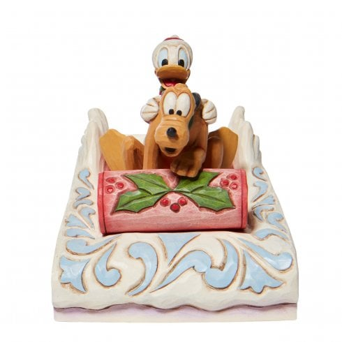 Disney Traditions Donald & Pluto Sledding