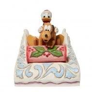 Donald & Pluto Sledding