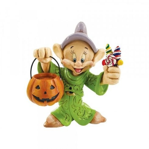 Disney Traditions Dopey Dwarf Trick-Or-Treating Halloween Figurine 6008988