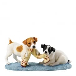 Double Trouble Jack Russell Dogs Figurine