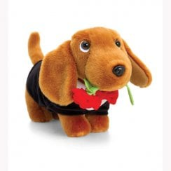 Douggie The Sausage Dog 26cm With Roses