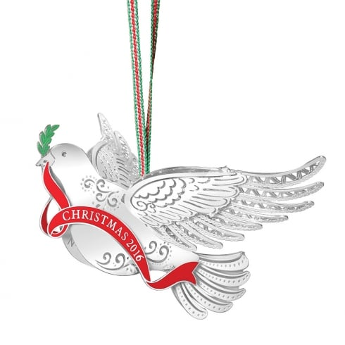 newbridge silverware dove of peace christmas collectable 2016 hanging decoration