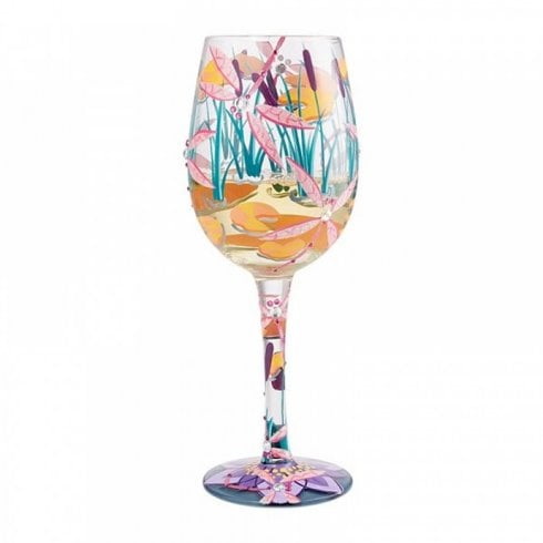 Lolita Dragonfly Magic Handpainted Wine Glass