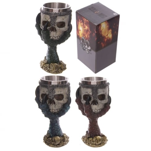 Puckator Dragons Claw And Warrior Skull Goblet