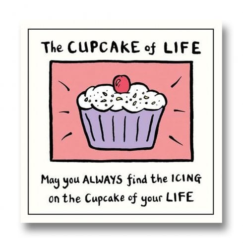 Pigment Edward Monkton - The Cupcake of Life Everyday Blank Card SF812A